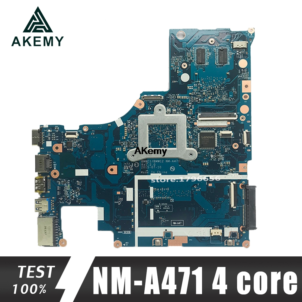 BMWC1/BMWC2 NM-A471 Motherboard For Lenovo 300-15IBR Notebook Motherboard CPU 4 Core Cpu GT920M 1G DDR3 100% Test Work