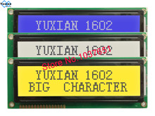 Lcd מודול תצוגת 1602 גדול גדול אופי LCM1602B במקום WH1602L