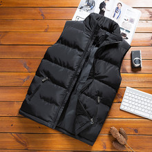 Hot Sale Men's Parka 2019 Winter Jacket Men Stand Collar Vest Korean Solid Color Sleeveless Coats Male Trend Warm Clothes
