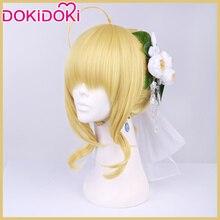DokiDoki Game Fate Cosplay Wig Fate/stay night Saber Arutoria Pendoragon Wigs Women Hair Heat Resistant