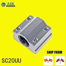linear rail SC20UU (4pcs) SCS20UU 20mm linear ball bearing slide unit 20mm linear bearing block for DIY CNC Router linear slide карниз потолочный пластиковый dda поворот гранд двухрядный карельская берёза 3 8