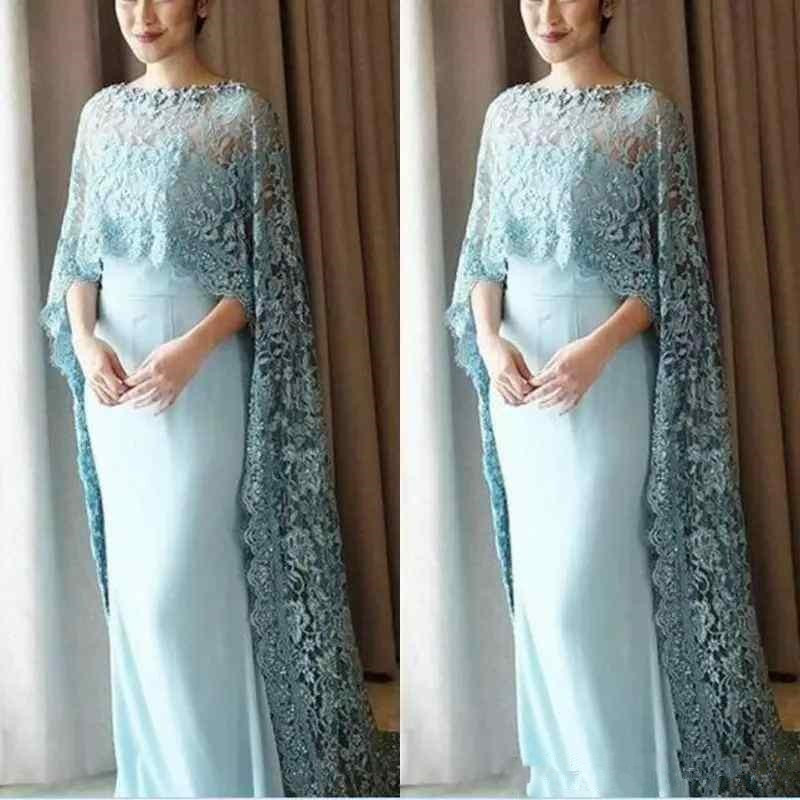 Lace Style Mother Of The Bride Dresses With Capped Sleeve Floor Length Prom Custom Evening Gown Vestidos Vestido De Madrinha