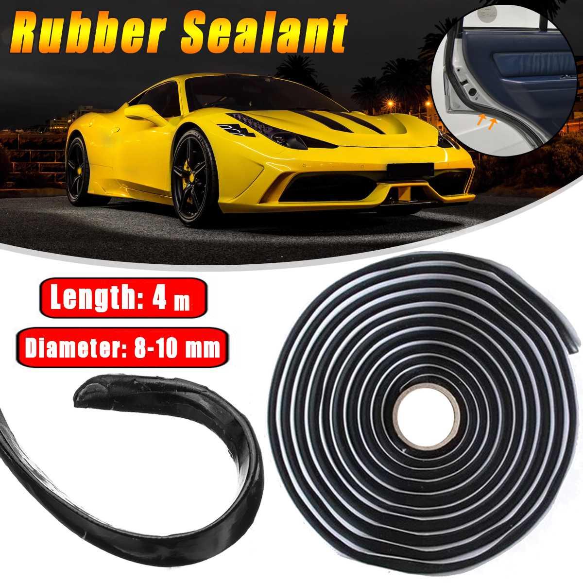 2x Car Rubber Sealant 4 Meters Butyl Glue Headlight Windshield Retrofit Reseal Hid Headlamps Taillight Shield Glue Tapes