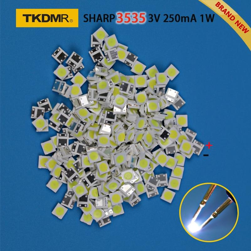 TKDMR 50pcs SHARP Ad Alta Potenza LED di Retroilluminazione A LED 2W 3535 3V 6V bianco Freddo 135LM TV applicazione spedizione gratuita