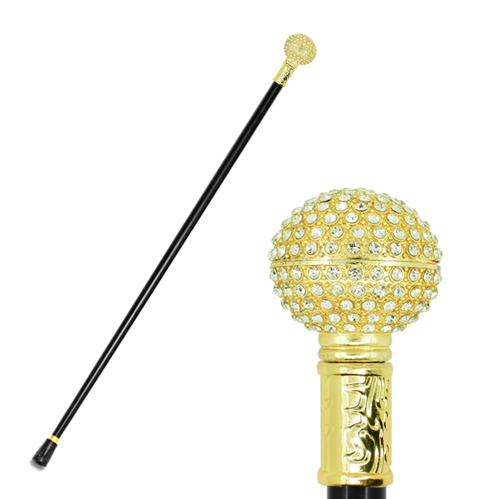 Fashion Walking Cane Stick Gold Women Lady Beauty Queen Cane Monarchess Diamond Golden Crutch Scepter Canes Crutch For Women