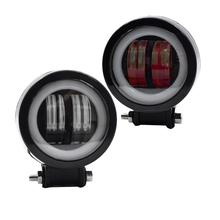 1 Pc 20W LED Fog Light Work Lamps Waterproof Car Dome Round for Off-Road Motorcycle (White)