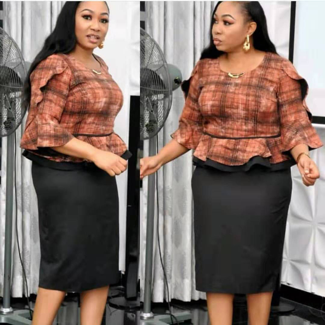 2019 New Arrival Elegent Fashion Style Autumn And Winter African Women Beauty Plus Size Dress L-3XL