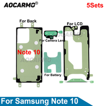 5Pcs/Lot Full Set Adhesive LCD Screen Tape Back Battery Cover Frame Camera Lens Waterproof Sticker For Samsung Galaxy Note 10