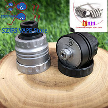Armor S Styled RDA Rebuildable Dripping Atomizer with bf pin 22mm diameter 316 stainless steel 510 thred Top oiling diy edc Atty free gift original digiflavor drop solo rda single coil 22mm with two caps standard 510 and bf squonk 510 pin deep base
