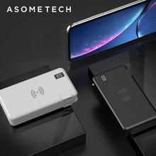 "10000mah QC3.0 פ""ד מהיר מטען כוח בנק מטען אלחוטי עבור Iphone סמסונג Tablet סוג C USB 3 ב 1 18650 Powerbank Poverbank"