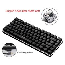 Ajazz AK33 82 Keys Mechanical Keyboard Russian/English Layout Gaming Keyboard RGB Backlight Switch Wired Keypad