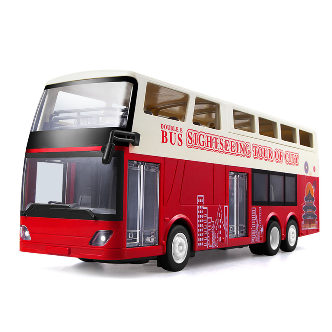 Simulation RC Double-Decker Sightseeing Bus City Bus Model Car Toy Remote Control Car Toys For Children Boys Gifts