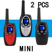 2pcs RETEVIS Mini Walkie Talkie Kids Radio 0.5W UHF Frequency Portable Radio Station Handheld Radio Gift Portable Communicator