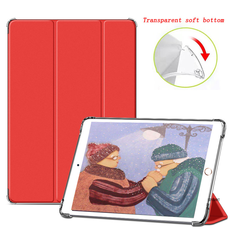 Red Red for iPad 2020 Air 4 10 9 inch Airbag Transparent matte soft protection Case For New