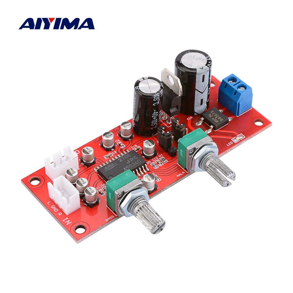 AIYIMA NJM2706 Tone Board Amplifier Preamp Sound Enhancement Board 3D Surround Sound Volume Control Adjustment