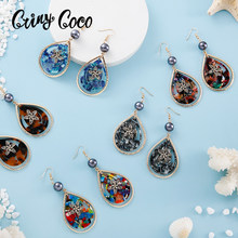 Cring Coco Water Drop Earrings Hawaiian Hot Selling Exquisite Female Flower Drop Dangling Earring Fashion Jewelry for Women