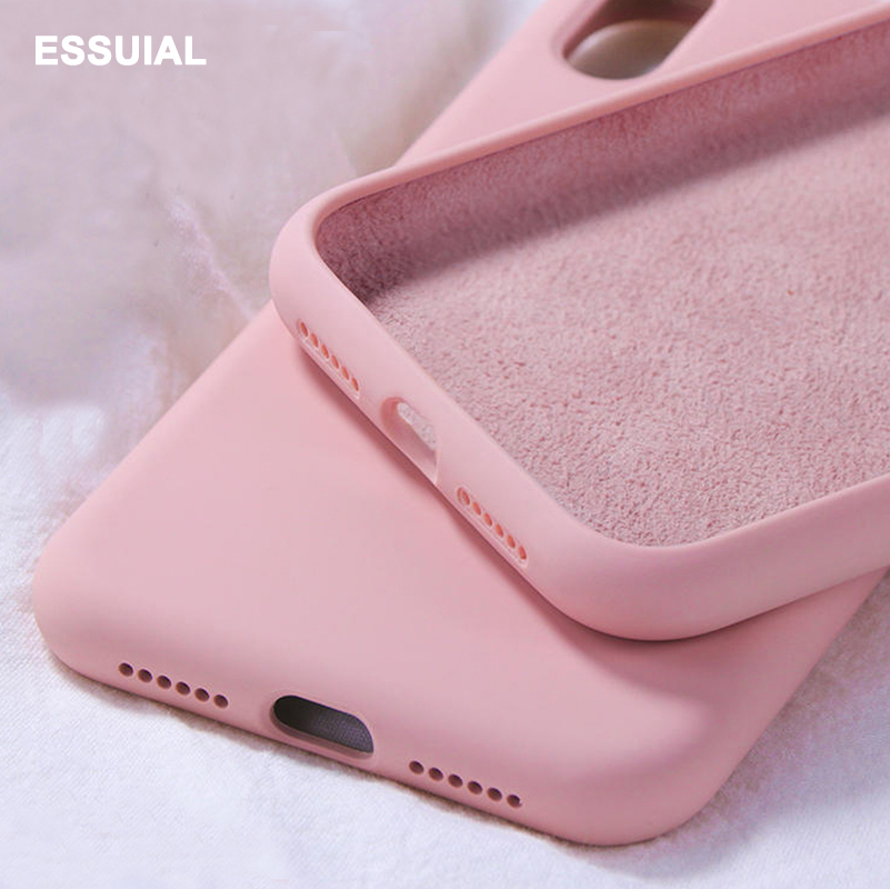 Original Liquid Silicone Case For Xiaomi Redmi Note 8 7 6 5 K20 Pro 6A Soft Case For Mi 9T 9 8 SE A2 Lite A1 6X Mix 2 3 2s Cover(China)