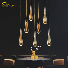 Modern LED Crystal Pendant Light Home Decoration Living Room Hall Dining Room Hanging Kitchen Pendant Lamp Indoor Lighting