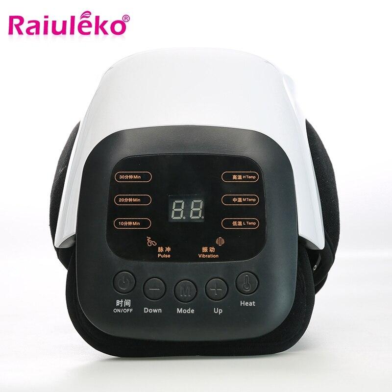 Masseur de genou infrarouge électrique chauffé Vibration articulaire physiothérapie Massage soulagement arthrose rhumatismale arthrite soins