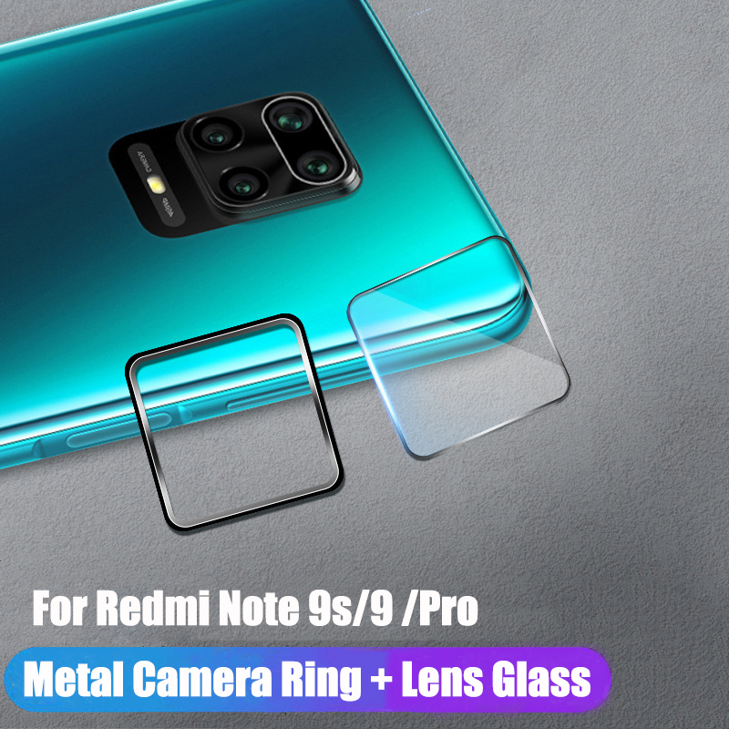 Camera Lens Tempered Glass + Metal Ring Case for Xiaomi Redmi Note 9s 9 Pro Max Lens Screen Protector for Redmi Note 9s 9 Pro S(China)