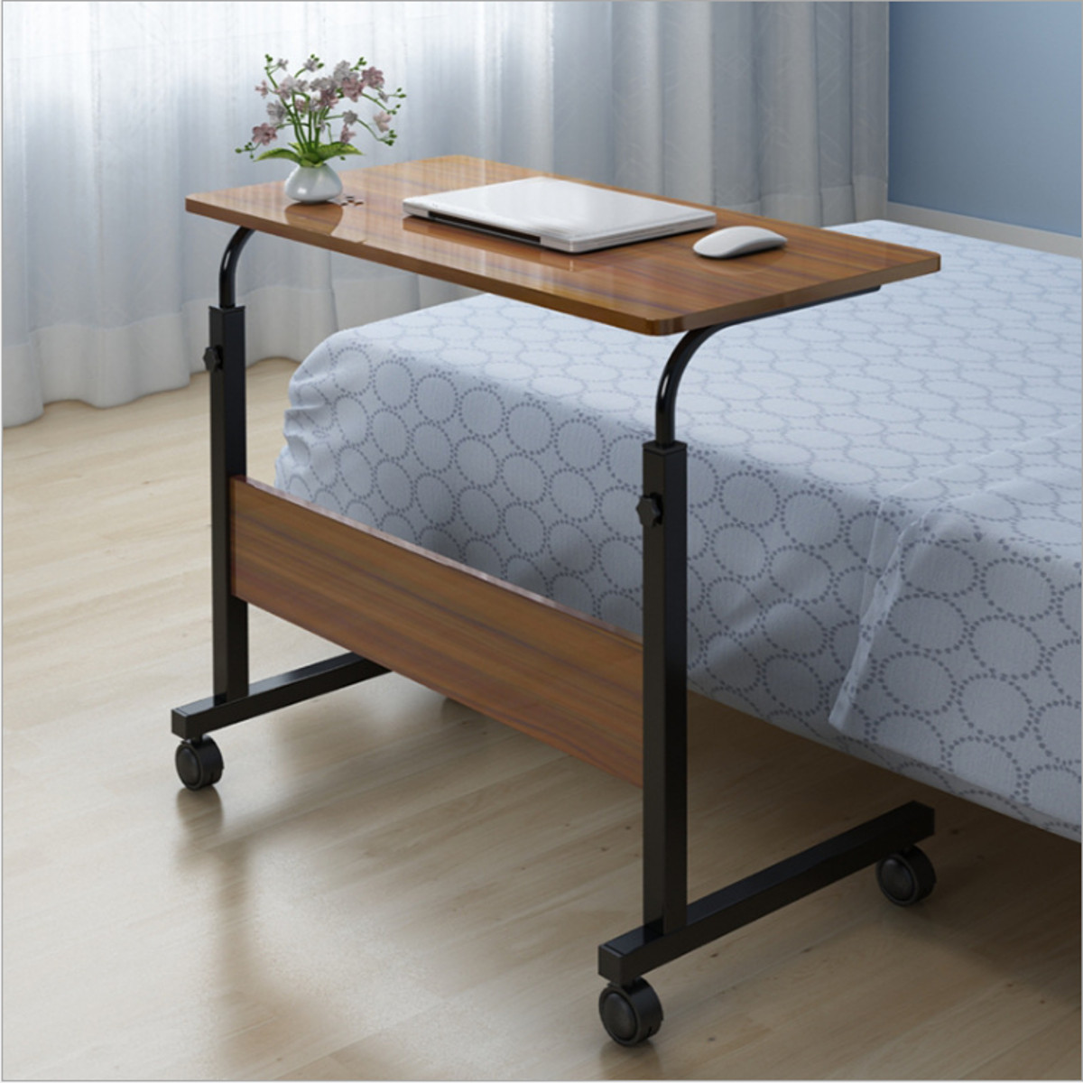 Computer Table Adjustable Portable Laptop Desk Rotate Laptop Bed Table Can Be Lifted Standing Desk 80*40CM
