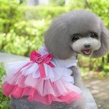 Женское платье для маленьких собак милое принцессы весенне летняя