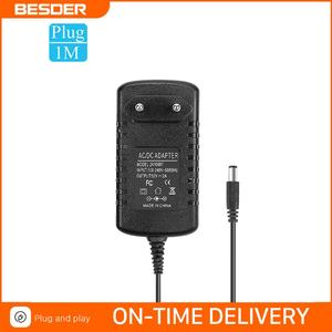 BESDER AC 100-240V Input DC 12V 2A Output Power Supply EU Plug Power Adapter Charger For CCTV Security Ip/AHD/Analog Camera