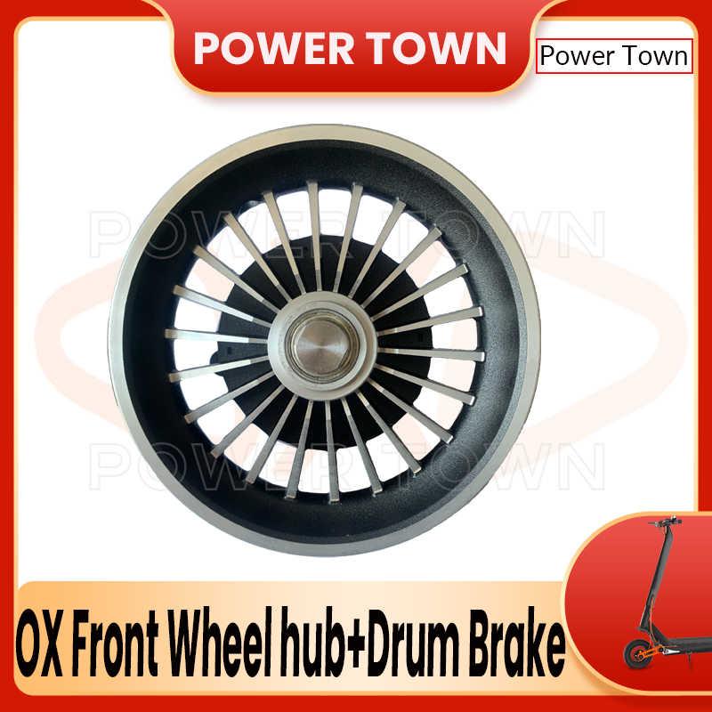 Передняя Ступица колеса и барабанный тормоз для электрического скутера ox SUPER HERO ECO oxo, оригинальные аксессуары