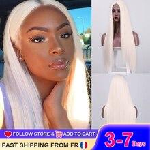 Que es una peluca recta larga 60 613 sintético rubia pelucas para mujeres medio Cosplay púrpura rojo marrón peluca pelo falso