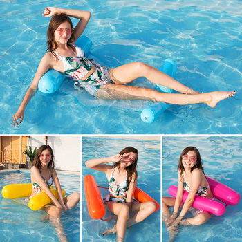 цена на Multi-Purpose Inflatable Hammock (Saddle, Lounge Chair, Hammock, Drifter) Poolmaster Swimming Pool Water Hammock