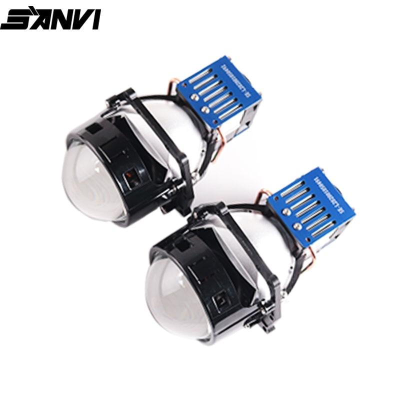 SANVI New Arrival 3inch Bi LED&Laser projector lens headlight 62w 5500K Auto LED Projector Headlamp Car light Retrofit Kits