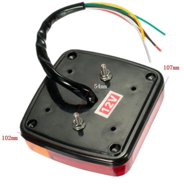 2pcs New 12V LED Car Trailer Truck Taillight Brake Stop Turn Signal light AS+ABS Shock Resistant Universal Car Lights 1