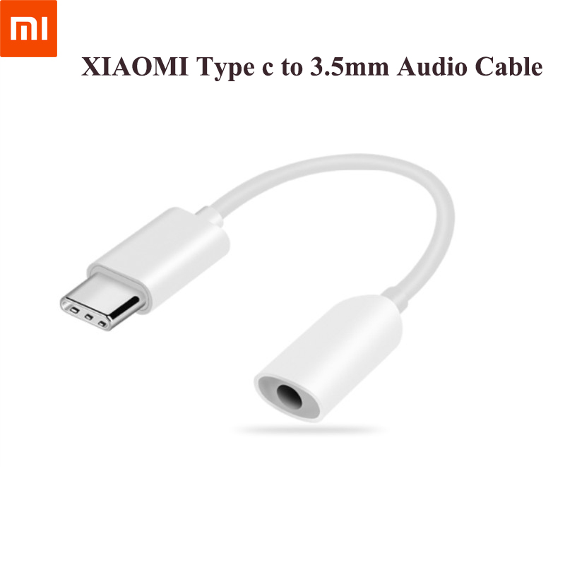 Original For Xiaomi Earphone Adapter Type C To 3.5mm Cable Music Headphone Converter USB C Adapter For Oneplus Huawei Samsung