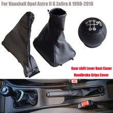 Estilo do carro manual de 5 velocidades alavanca do botão de deslocamento de engrenagem headball com capa à prova de poeira para opel astra ii g zafira a 1998-2010
