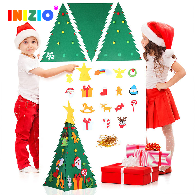 DIY Christmas Tree Santa Candy Tree Children's Gift Hanging Decoration 3D Christmas Tree Decorations For Home Educational Toys