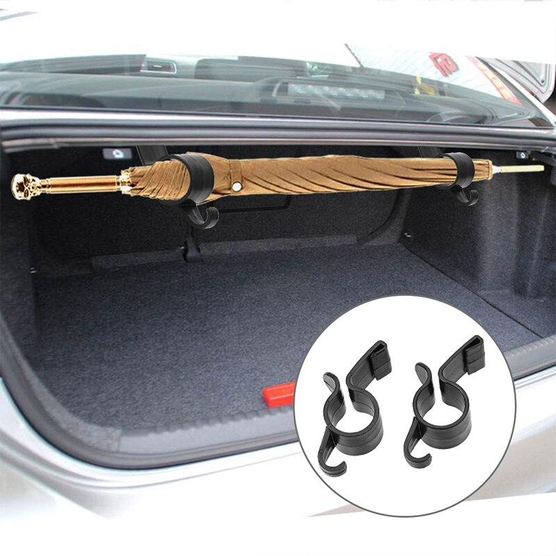 2Pcs/set Umbrella Holder Car Organizer Trunk Mounting Bracket Hanging Hooks For Umbrella Towel Car Interior Accessories Hanger