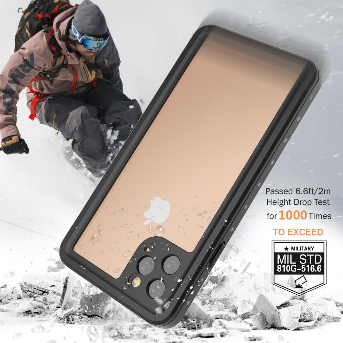 IP68 防水ケース iphone 11 プロマックスケースシュノーケリングオリジナル水中ケース 360 フルカバー iphone 11 プロ最大 Coque