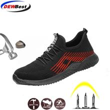 Sneakers Shoes Work-Boots DEWBEST Steel-Toe Fashion Labor Grid Mesh Insurance Unbreakable