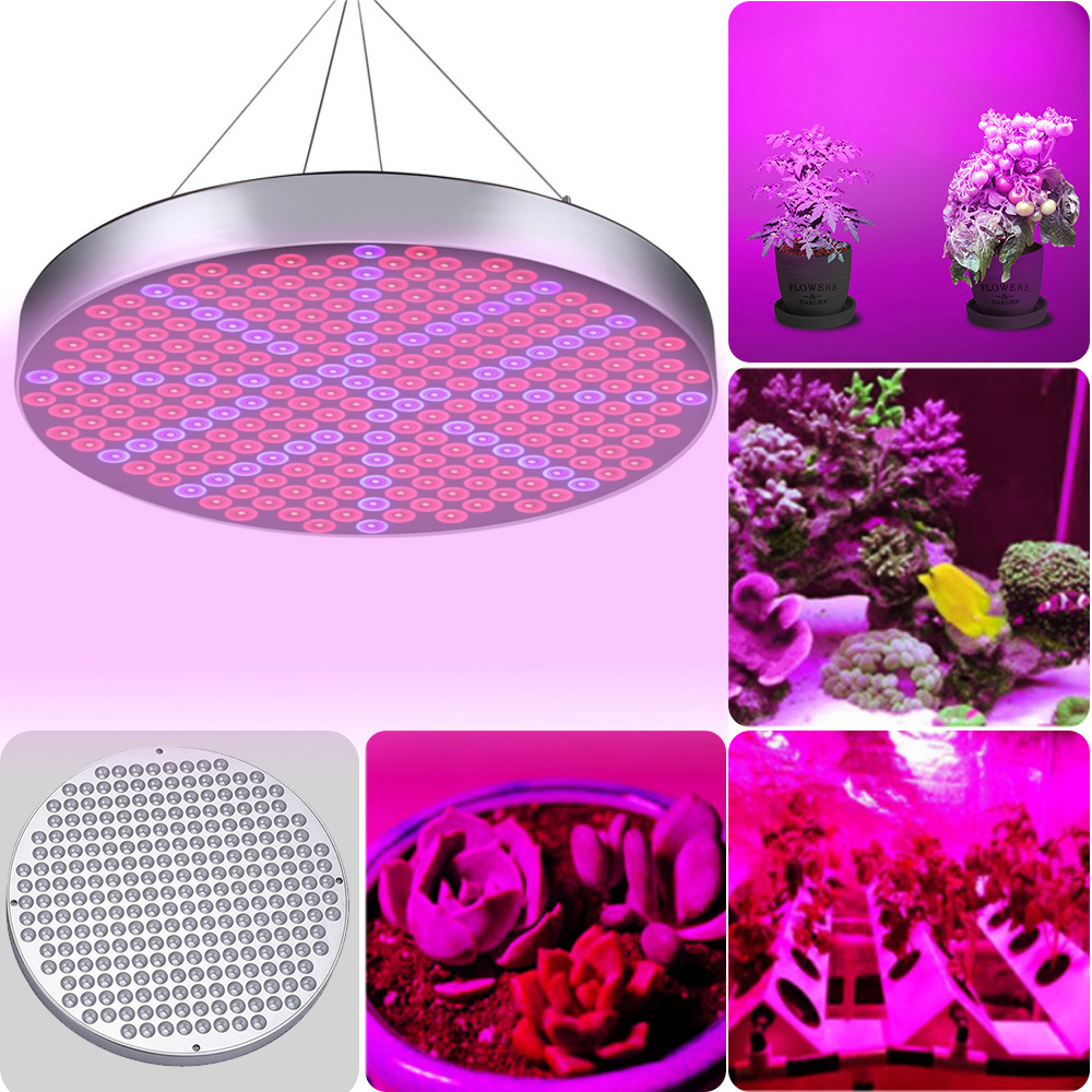 Plant Growth Lamp Round Shape Red Blue Plant Grow Light Panel Fill Light Full Spectrum Lamp For Greenhouse Seedling Foster 50W