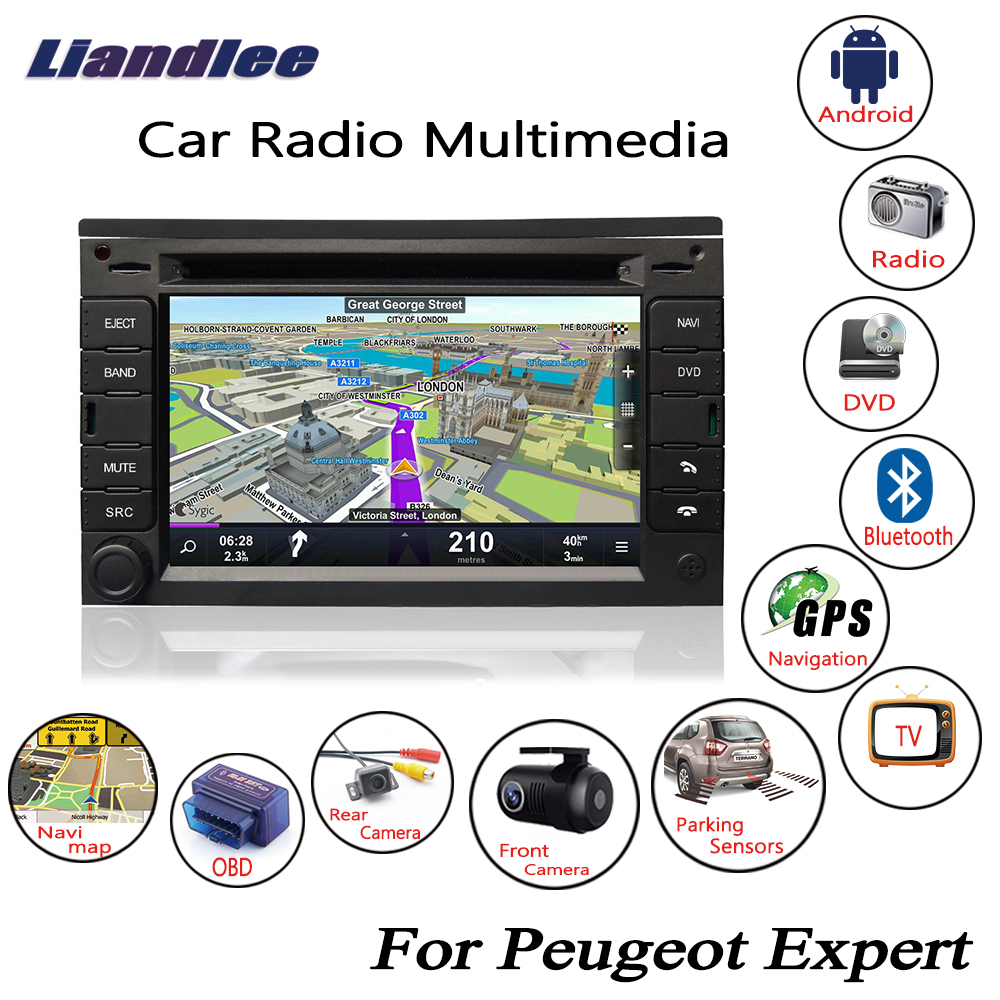 Liandlee For Peugeot Expert 2007~2015 Android Car Radio CD DVD Player GPS Navi Navigation Maps Camera OBD TV HD Screen Media