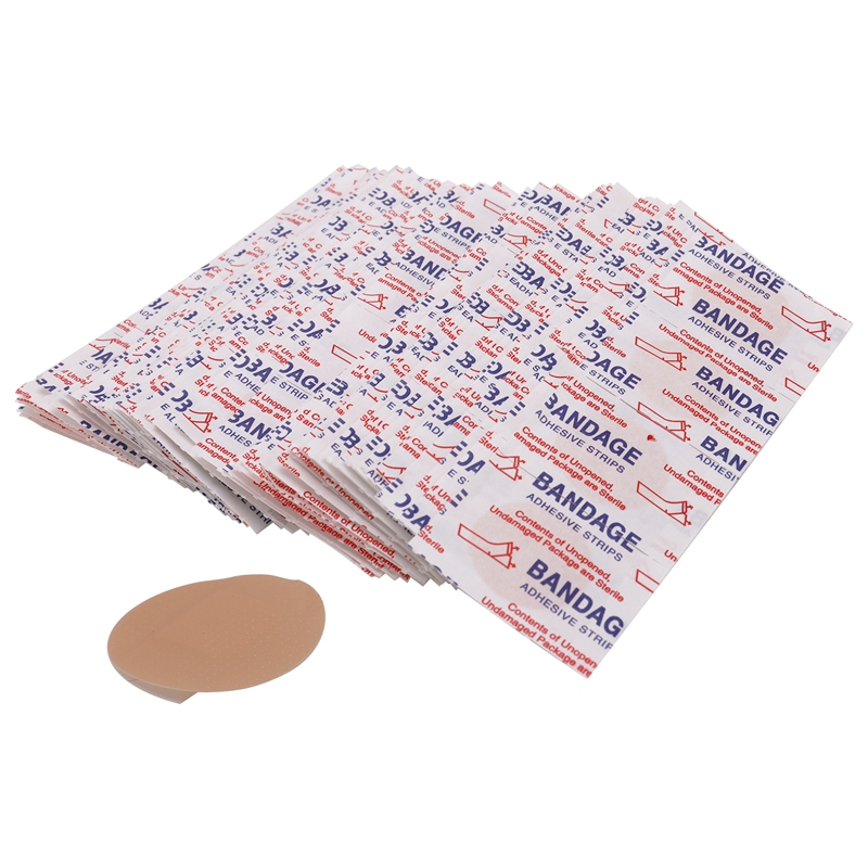 200 Pcs Skin Care First Aid Bandage Hemostatic Disposable Waterproof Band-Aid With A Sterile Gauze Pad