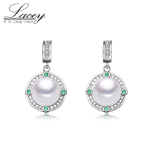 цена на Freshwater 925 Sterling Silver Stud Pearl Earrings For Women, White Natural Pearl Earrings Wedding  Jewelry