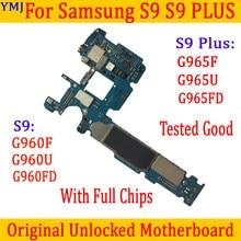 Original entsperrt Motherboard Für Samsung S9 Plus G965F G965FD G965U LogicBoard für G960FD G960F G960U Mainboard OS System platte