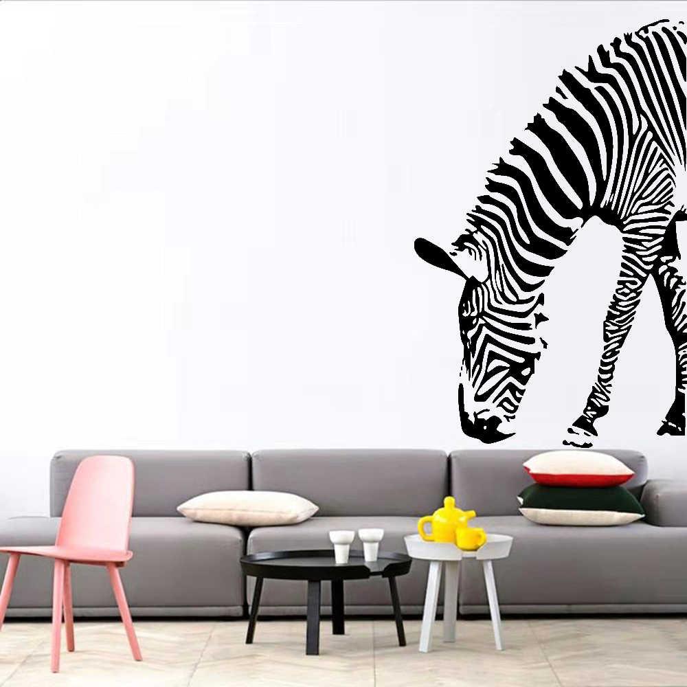 Виниловая настенная наклейка с рисунком зебры, украшение для детской комнаты, спальни