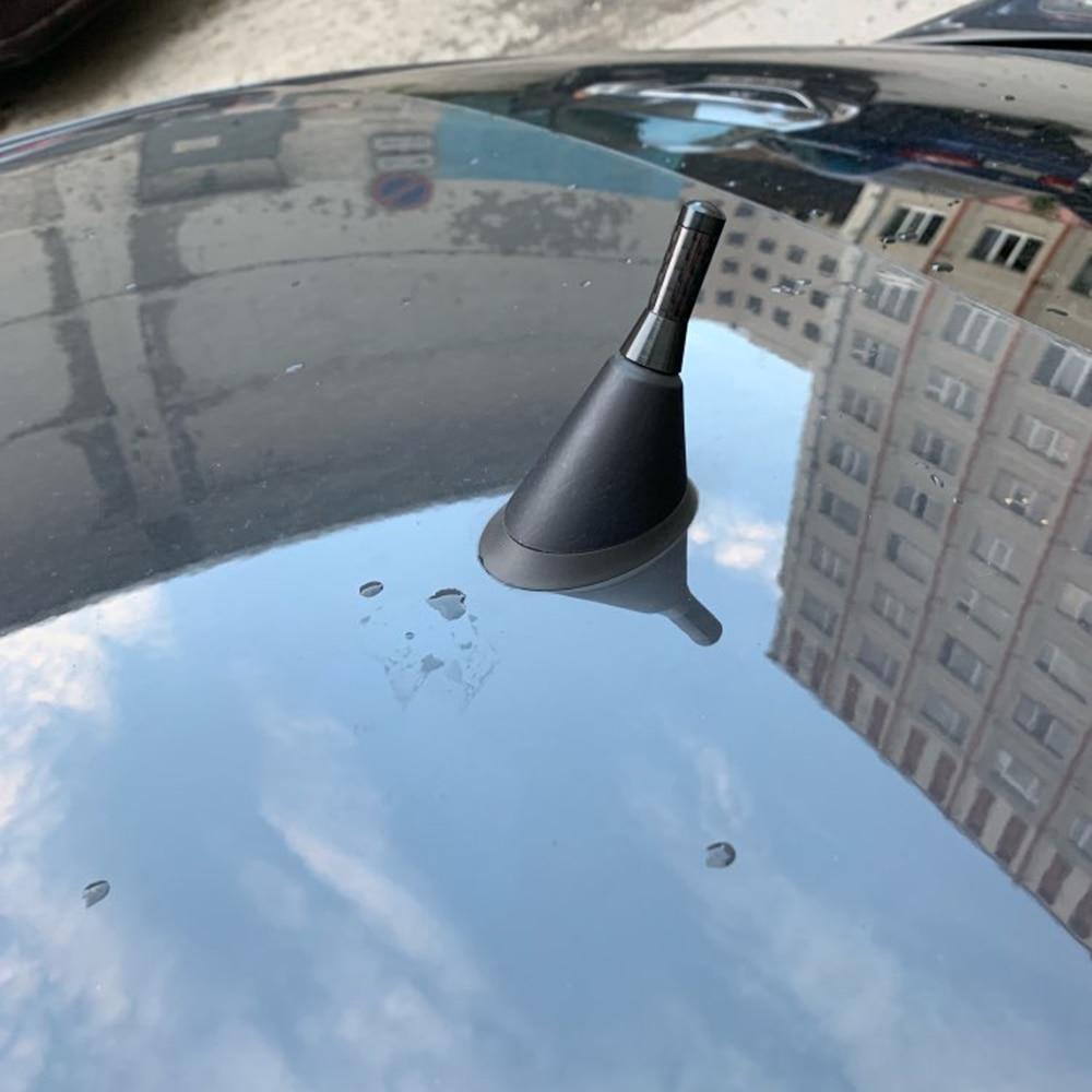 3.5 cm antena do carro de rádio fibra carbono antena para volkswagen vw polo tiguan golf 4 5 6 7 mk4 passat b5 b6 b7 touran bora accessori