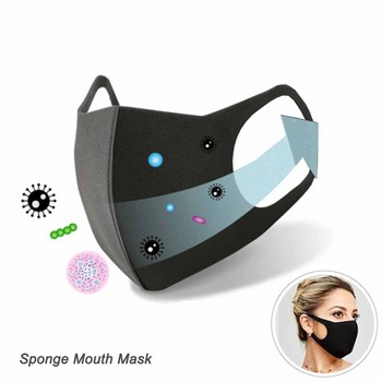 * Cotton PM2.5 Black mouth Mask anti dust mask Activated carbon filter Windproof Mouth-muffle bacteria proof Flu Face masks Care