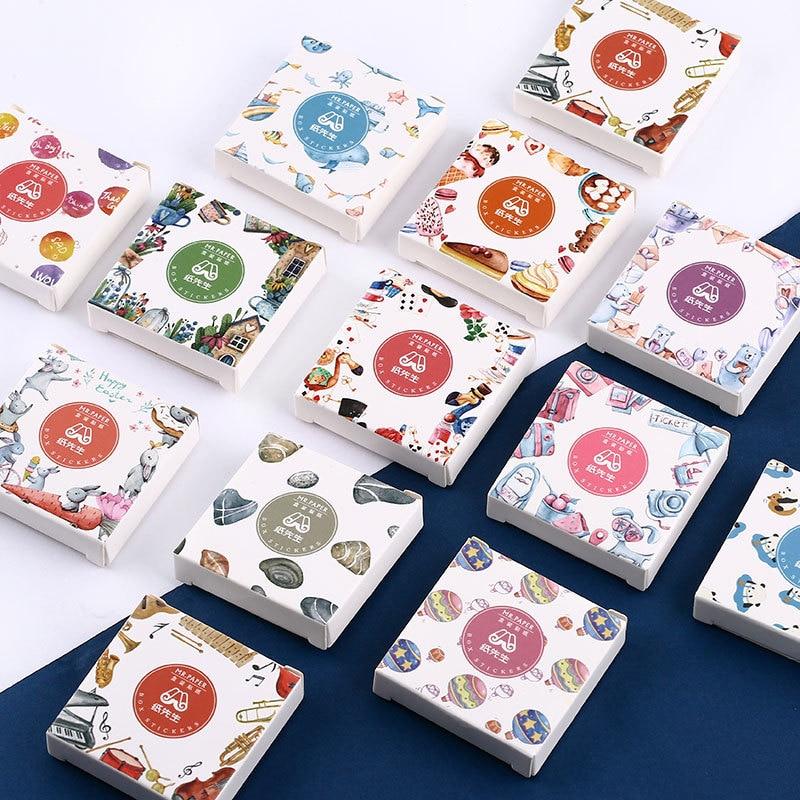 45 Pcs/BOX Cute Cartoon Paper Diary Stickers Animal Panda Decoration Decal DIY Scrapbooking Bullet Journal Kawaii Stationery