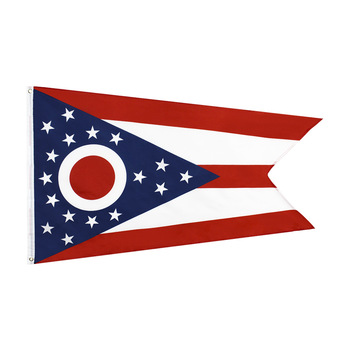 Ohio Flag the United States USA 150* 90cm 3ft x 5ft Custom Banner Metal Holes Grommets image