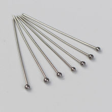 100pcs/lot 15 16 18 20 25 30 35 40 45 50mm Stainless Steel Ball Head Pins for DIY Jewelry Making Findings Supplies Accessories