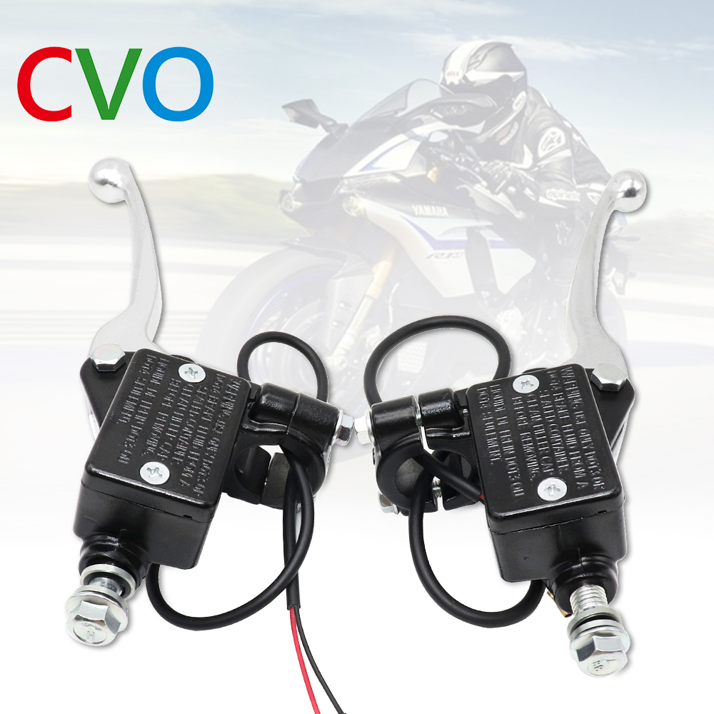 Motorcycle Brake Pump Front Master Cylinder Hydraulic Brake Lever Right For Dirt Pit Bike ATV Quad Moped Scooter Buggy Go Kart